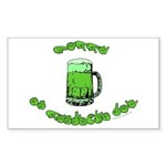 Happy St. Pat's Rectangle Sticker 10 pk)