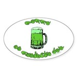 Happy St. Pat's Oval Sticker (10 pk)
