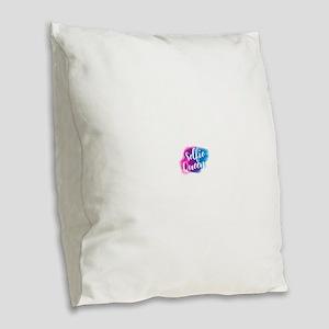 selfie queen Burlap Throw Pillow