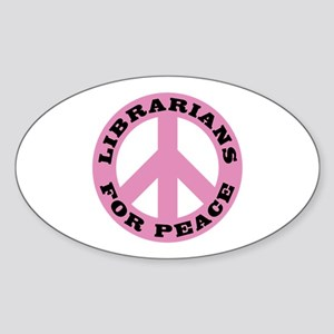Librarians For Peace Oval Sticker