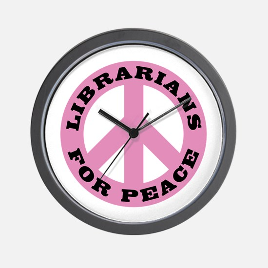 Librarians For Peace Wall Clock