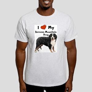 I Love My Bernese Mtn Dog Light T-Shirt