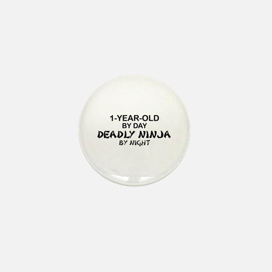 1-Year-Old Deadly Ninja by Night Mini Button