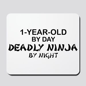 1-Year-Old Deadly Ninja by Night Mousepad