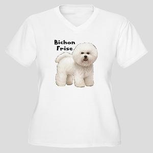 Bichon Frise Women's Plus Size V-Neck T-Shirt