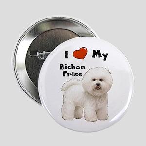 "I Love My Bichon Frise 2.25"" Button"