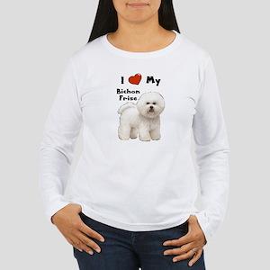 I Love My Bichon Frise Women's Long Sleeve T-Shirt