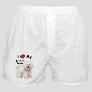 I Love My Bichon Frise Boxer Shorts