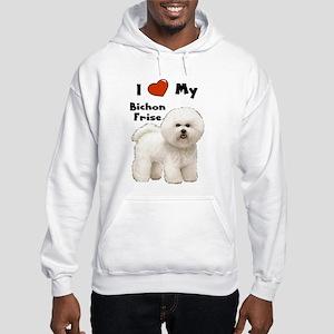 I Love My Bichon Frise Hooded Sweatshirt