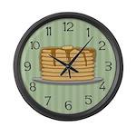 Pancakes Large Wall Clock