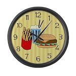 Fast Food Large Wall Clock