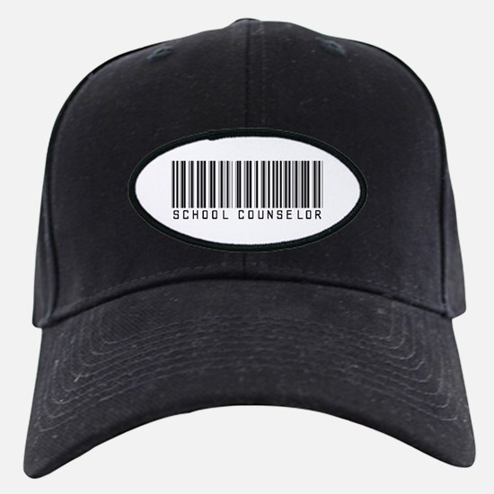 School Counselor Barcode Baseball Hat