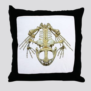 Starving Frog Throw Pillow