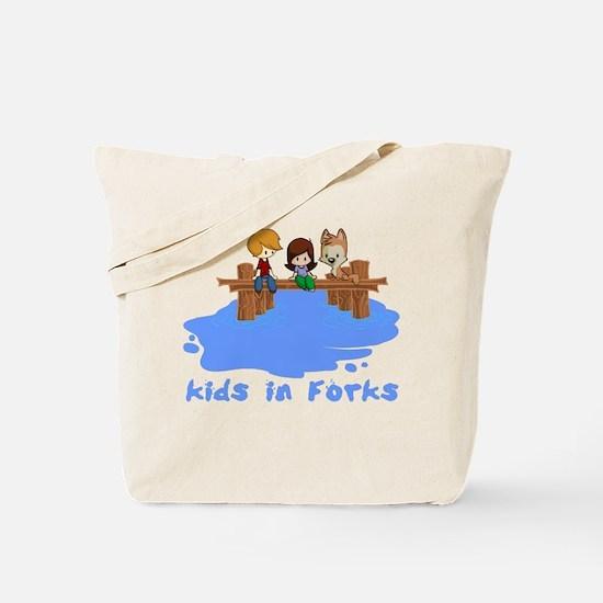 Kids in Forks Tote Bag