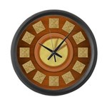 Cheese and Crackers Large Wall Clock