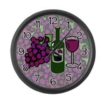 Wine Lovers Large Wall Clock