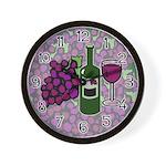 Wine Lovers Wall Clock