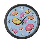 Donuts Large Wall Clock