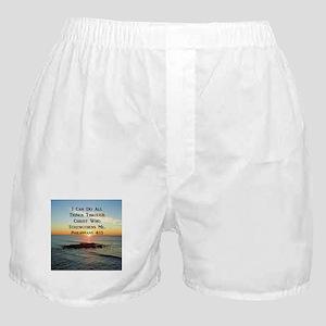 PHIL 4:13 VERSE Boxer Shorts