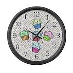 Cupcake Large Wall Clock