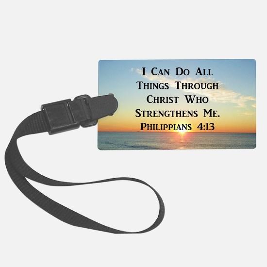 PHIL 4:13 VERSE Luggage Tag