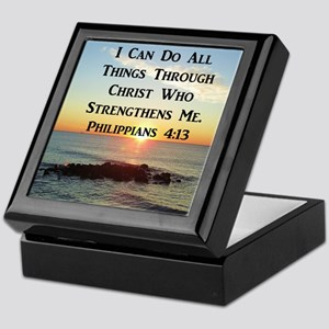 PHIL 4:13 VERSE Keepsake Box
