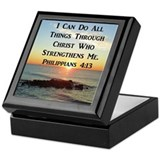 I can do all things Square Keepsake Boxes