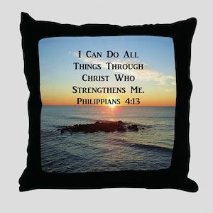 PHIL 4:13 VERSE Throw Pillow