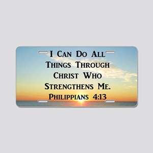 PHIL 4:13 VERSE Aluminum License Plate