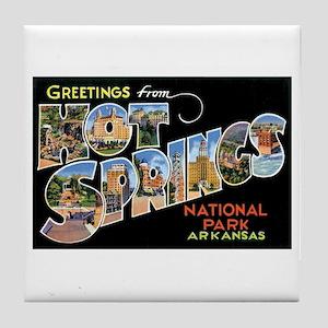Hot Springs Arkansas Tile Coaster
