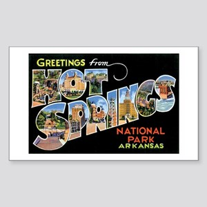 Hot Springs Arkansas Rectangle Sticker