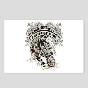 Eat, Sleep, Ride Motocros Postcards (Package of 8)