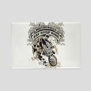Eat, Sleep, Ride Motocross Rectangle Magnet