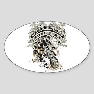 Eat, Sleep, Ride Motocross Sticker (Oval)