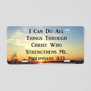 PHIL 4:13 VERSE Aluminum License Plate