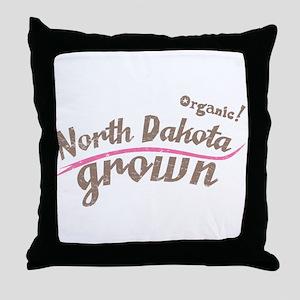 Organic! North Dakota Grown! Throw Pillow