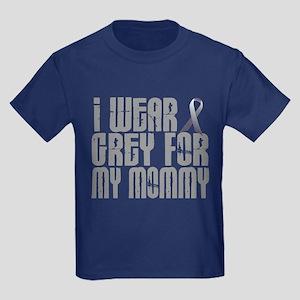 I Wear Grey For My Mommy 16 Kids Dark T-Shirt