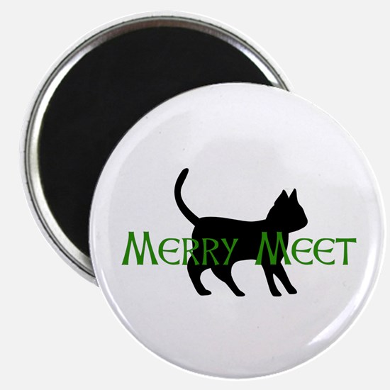 Merry Meet Spirit Cat Magnet