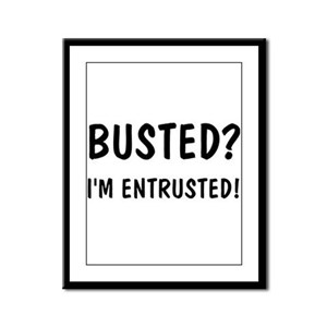 """Busted?"" Framed Panel Print"