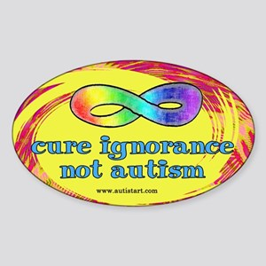 Cure Ignorance Oval Sticker