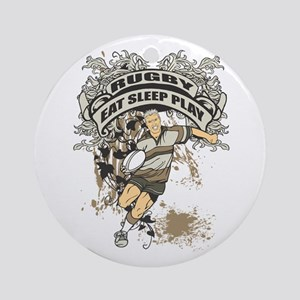 Eat, Sleep, Play Rugby Ornament (Round)