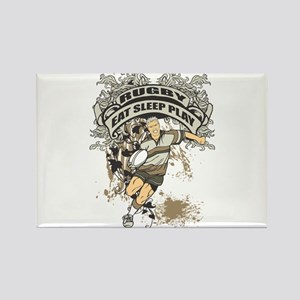 Eat, Sleep, Play Rugby Rectangle Magnet