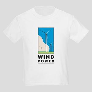 Wind Power Kids Light T-Shirt