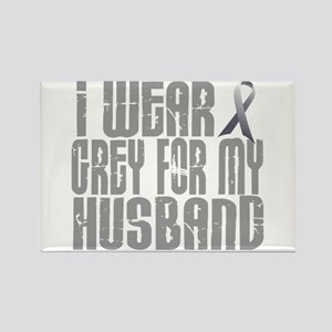 I Wear Grey For My Husband 16 Rectangle Magnet