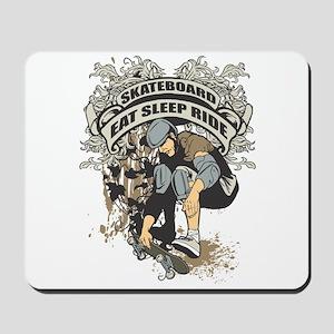 Eat, Sleep, Ride Skateboard Mousepad