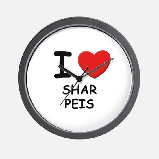 I love SHAR PEIS Wall Clock