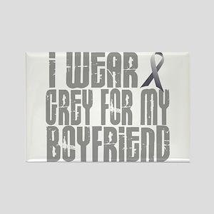I Wear Grey For My Boyfriend 16 Rectangle Magnet