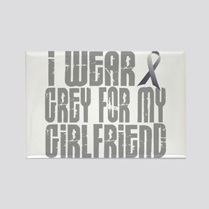 I Wear Grey For My Girlfriend 16 Rectangle Magnet