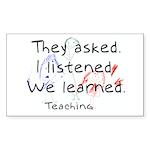 Teaching Rectangle Sticker 50 pk)