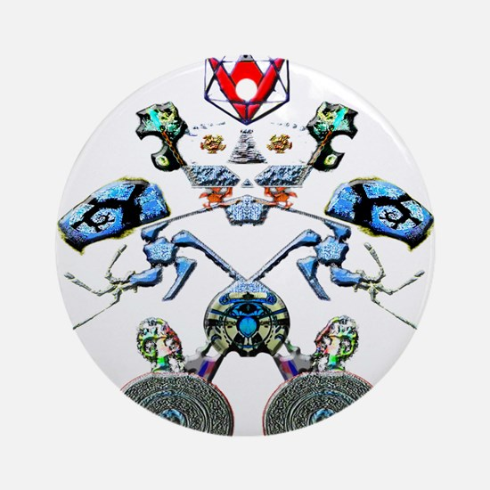 Fractal Man Ornament (Round)